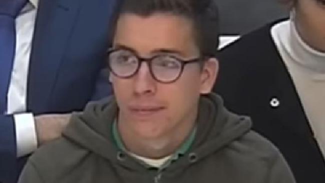 Diego Cruz, 21, fronts a court in Spain.