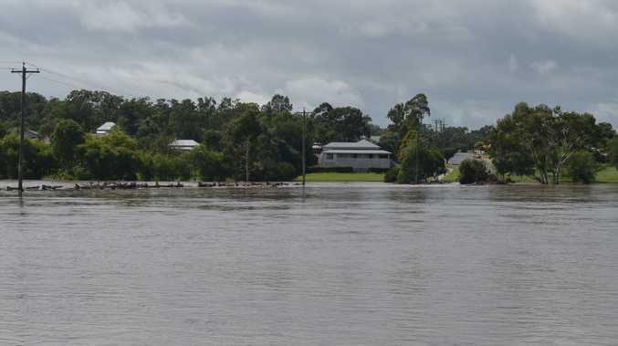 Floodwaters taken from River Terrace in East Warwick.