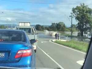 Flooding hits Warrego Hwy between Toowoomba and Brisbane