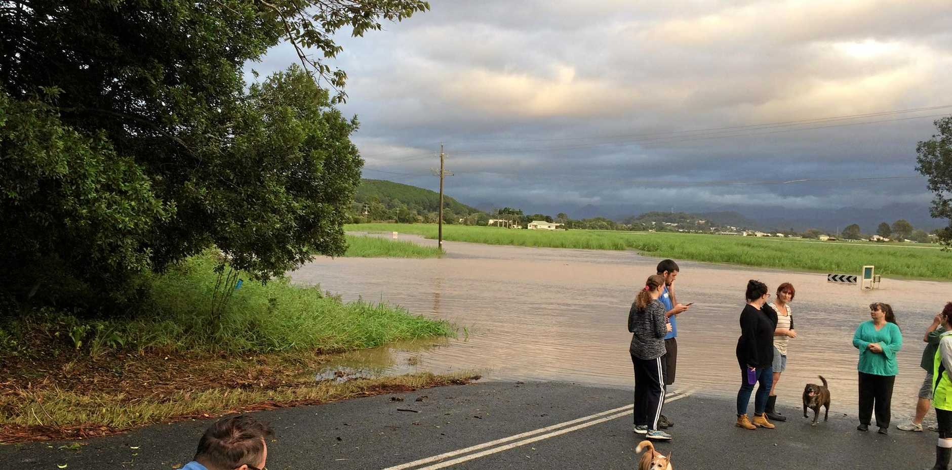 Vanessa Scott-White captured this image of Kielvale, near South Murwillumbah, as flooding continues in the area.