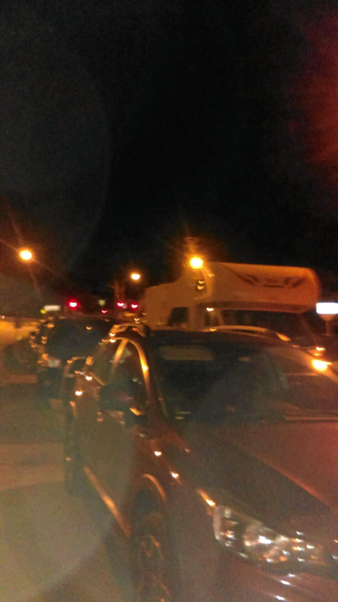 More than 100 cars were trapped on Sexton Hill overnight.