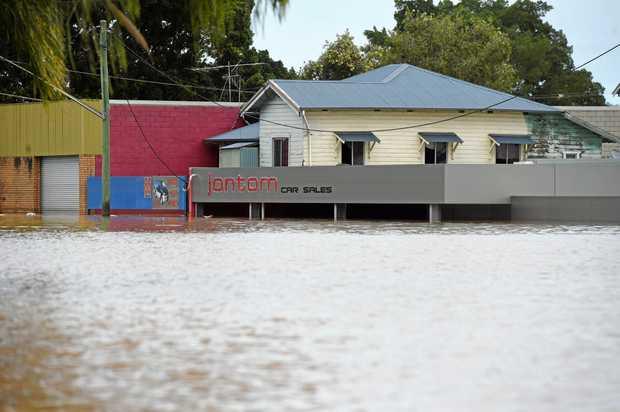 Dawson Street was completely under water.