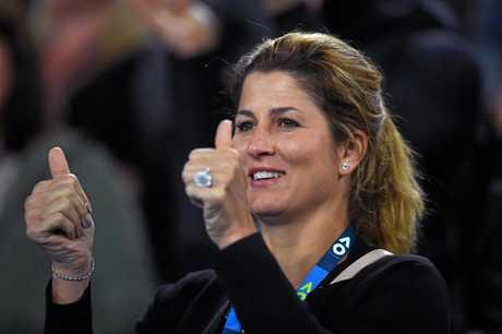 Roger Federer's wife Mirka.