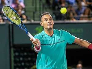 Kyrgios loses to Federer ... and gets heckled by his wife