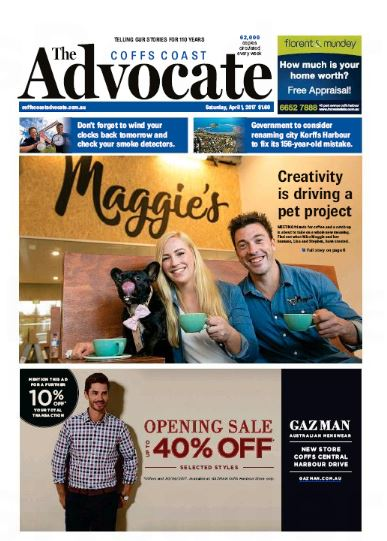 Today's Coffs Coast Advocate is available online.