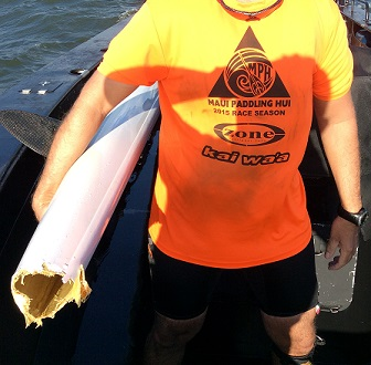 A 39-year-old Coast man is lucky to be alive after his kayak was attacked by a shark.