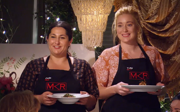 Della and Tully serve up their entrees during their ultimate instant restaurant.