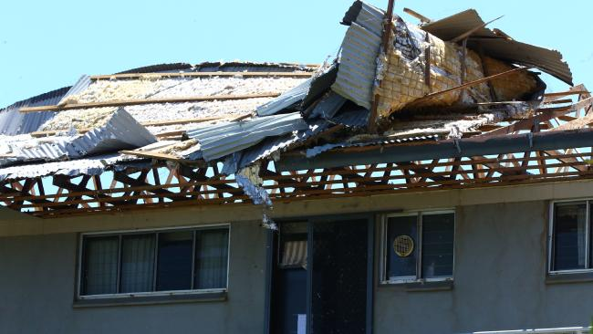 Roof damage at a property on Hamilton Island.