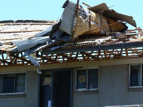 Roof damage at a property on Hamilton Island.