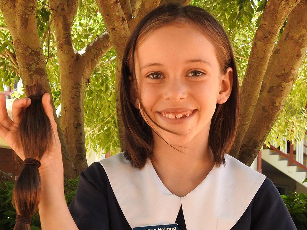 Valentina Holland's pony tail will be forwarded to the Alopecia Areata Centre.