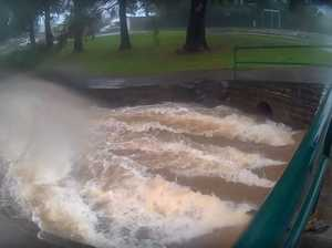 Amazing video footage shows flooding in Toowoomba