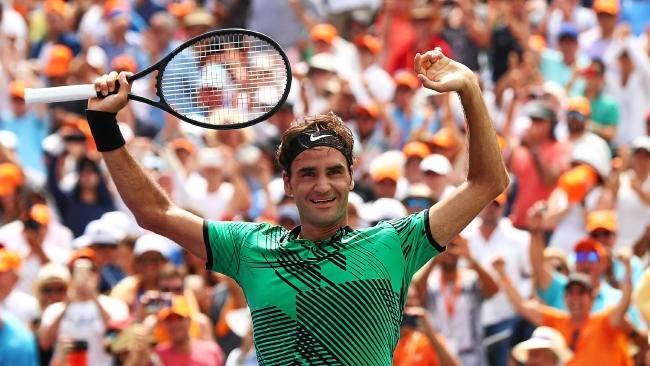 Roger Federer just keeps on winning. Source:AP