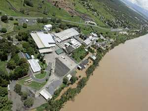 Meat works close as flood water threatens site