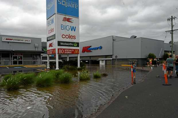 Floodwater around the Lismore Square has now receded.