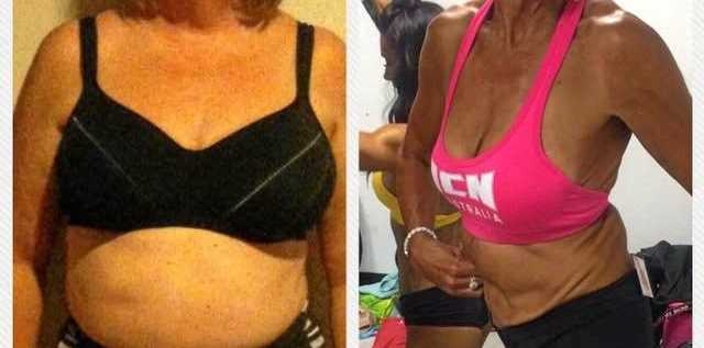TRANSFORMED: The changed expression on Melissa Homan's face before and after she lost nearly 40kg says it all.