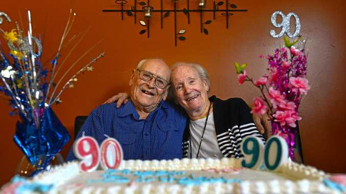 90 Year Old Twins George Best And Coral Peters Celebrate Their Birthday At The Yandina Pub