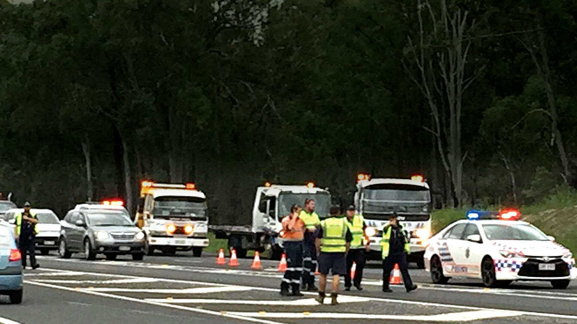 A person has been killed on the Bruce Hwy just north of Gympie.
