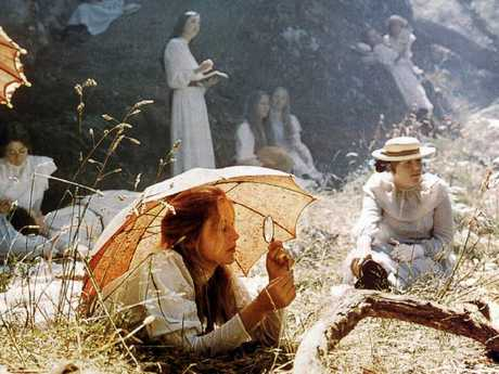 Anne Louise Lambert (foreground) as Miranda in the 1975 mystery film Picnic At Hanging Rock.