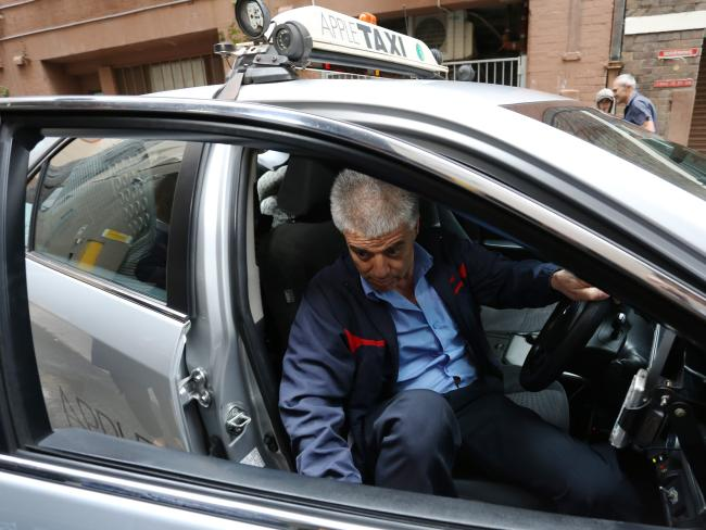 The taxi driver decided he didn't want Salim Mehajer and his friend in his car.