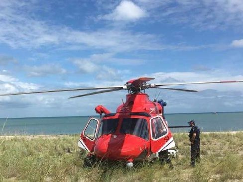 The Rescue 510 helicopter was called to Moore Reef off Cairns this afternoon.