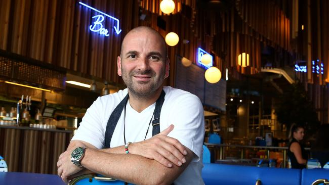 Celebrity Chef George Calombaris at Jimmy Grants Robina, which is not thought to have been affected.