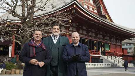 MasterChef Australia judges Gary Mehigan, Matt Preston and George Calombaris in Japan.