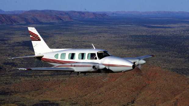 A Piper Navajo aircraft.