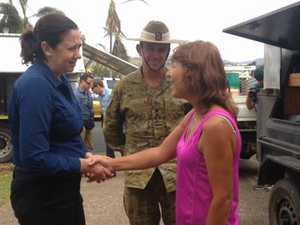 Queensland Premier visits damaged homes