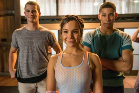 Thomas Lacey, Dena Kaplan and Keiynan Lonsdale in a scene from the movie Dance Academy: The Movie.