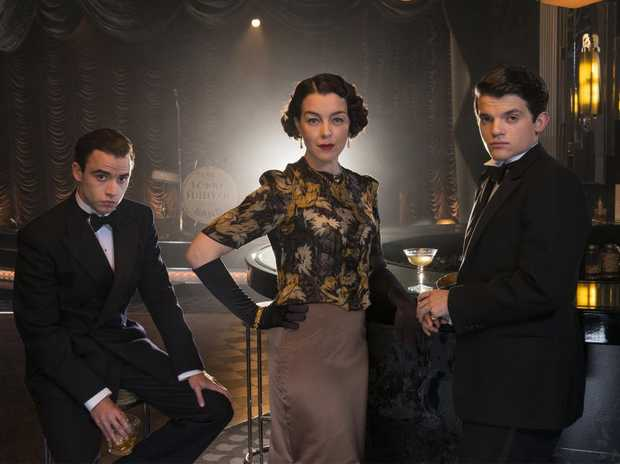Olivia Williams and Jamie Blackley star in the TV series The Halcyon.
