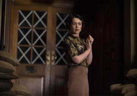 Olivia Williams in a scene from the TV series The Halcyon.