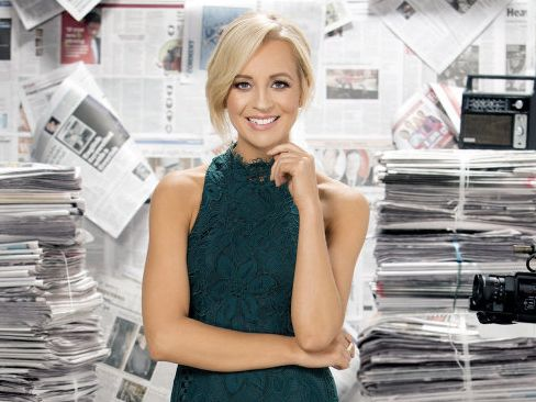 Carrie Bickmore co-hosts The Project.