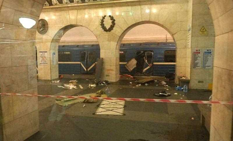 The cause of the blast was not immediately known. Russia's National Anti-Terrorist Committee said that the explosions hit a train between Sennaya Ploshchad and Tekhnologichesky Institut stations, media added.