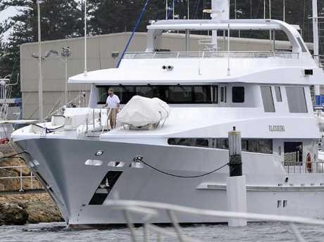 Angela Bennett's luxury boat Platinum. Picture: Daniel WilkinsSource:News Limited