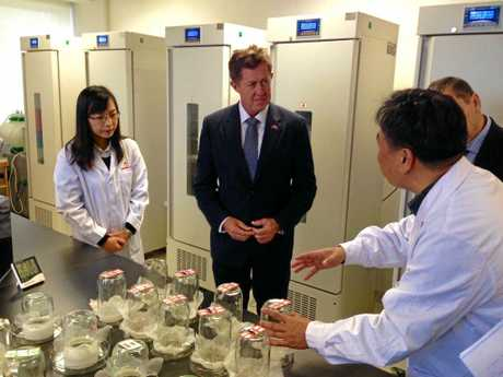 Luke Hartsuyker discusses food security as part of his visit to Beijing for the China Food Security and Food Safety Summit.