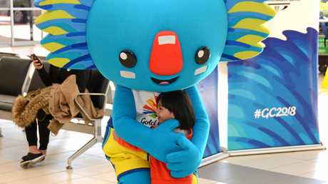 Take some time off to hang out with the GC2018 mascot.