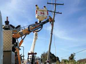 Chinchilla, Tara workers help bring power to cyclone-ravaged Bowen