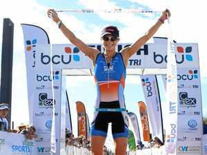 MAKING HER MARK: Celia racing to the top in triathlon