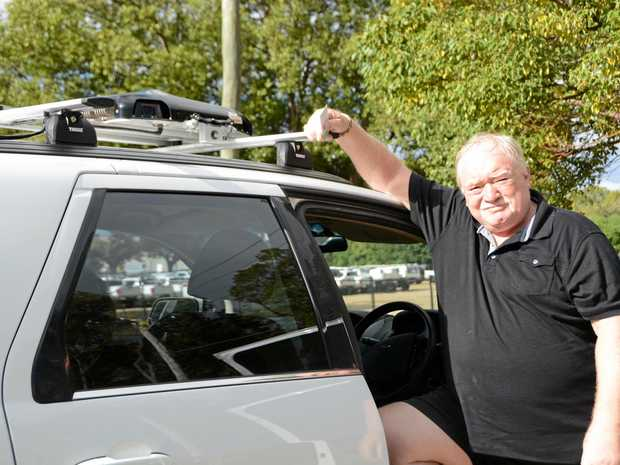 STREET CAMS: Uber mapping driver Brian Hurst will be one of the drivers mapping Toowoomba's streets for the ride-sharing company.