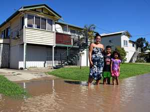 FIRST PHOTOS: Fitzroy River creeps into homes of Rocky families