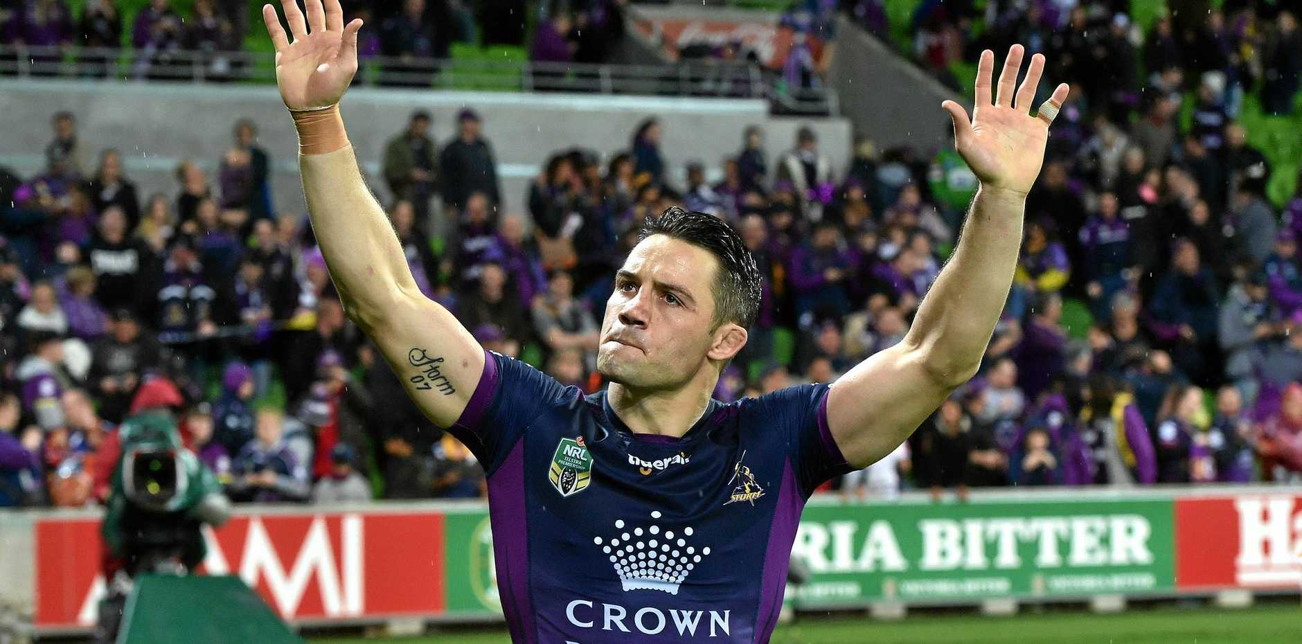 Melbourne Storm halfback Cooper Cronk after playing his 300th game last year.