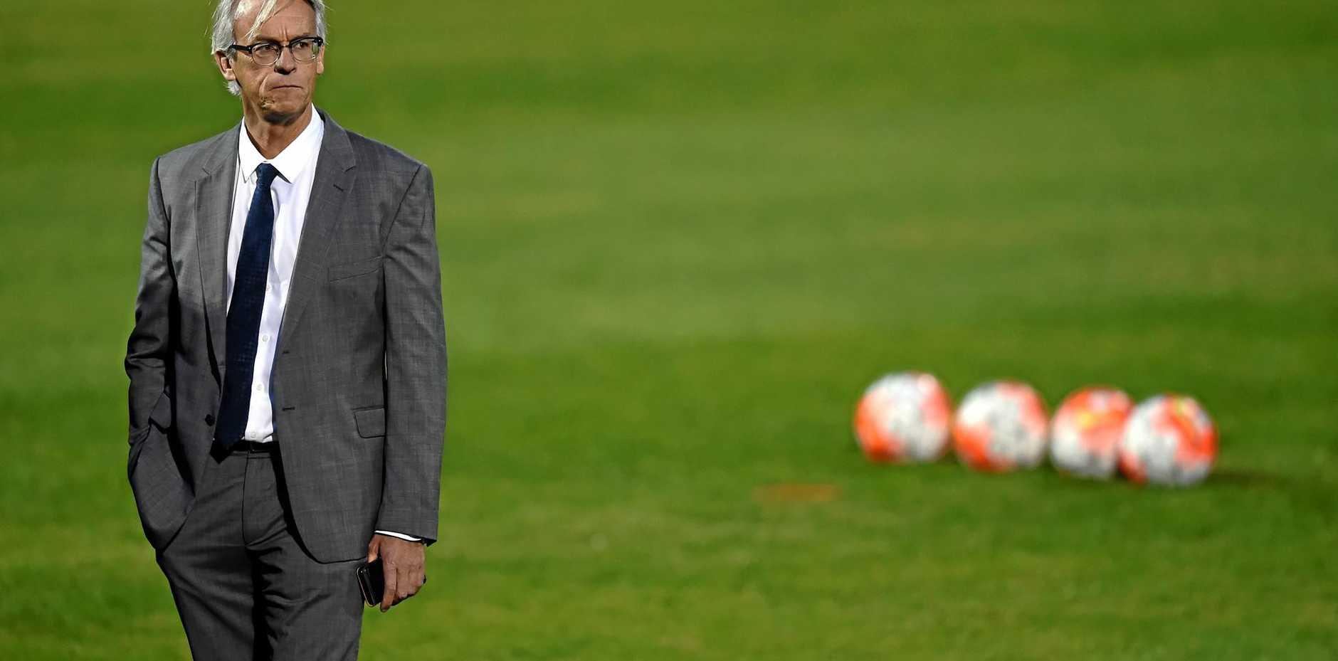 FFA chief executive David Gallop at a Socceroos training session.