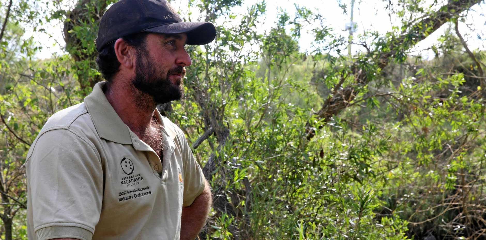 WIDGEE CREEK: James Thomas said the Widgee Creek on Jensen Rd flowed well over the bridge near his macadamia farm.