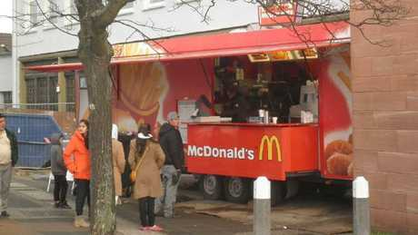 A McDonald's food truck spotted in Germany. Picture: Imgur/MerosonSource:Supplied