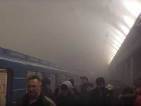 Footage from the scene showed commuters evacuating the platform