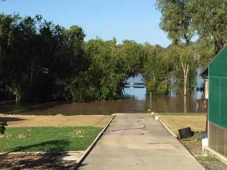 CROC COUNTRY: Sherrie Ashton is convinced there is a crocodile or three in her backyard.