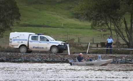 The search for the sunken car with a mother and two children inside.