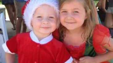 Jacob and Chloe. Jacob along with sibling Ella-Jane and their mother Stephanie died when the car they were travelling in was washed away in the Tweed River on Monday. Chloe survived the accident.