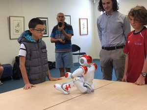 WATCH: Kids walk, talk and dance with robots