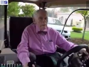 Senior speedster, 92, accused of hooning in golf buggy